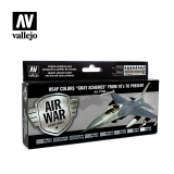 "set Vallejo USAF Colors ""Grey Schemes"" from 70's to present"
