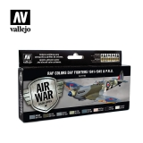 set Vallejo RAF Colors Day Fighters 1941-1945 & P.R.U.