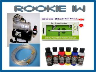 airbrush set Rookie IW