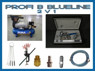 airbrush set Profi B BlueLine 2 v 1