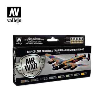 set Vallejo RAF Colors Bomber & Training Air Command 1939-1945
